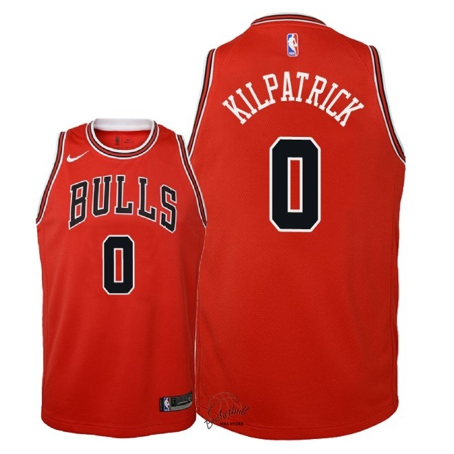 Choisir Maillot NBA Enfant Chicago Bulls NO.0 Sean Kilpatrick Rouge Icon 2018