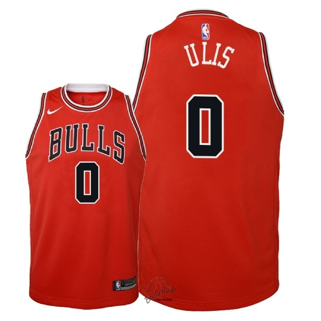 Choisir Maillot NBA Enfant Chicago Bulls NO.0 Tyler Ulis Rouge Icon 2018