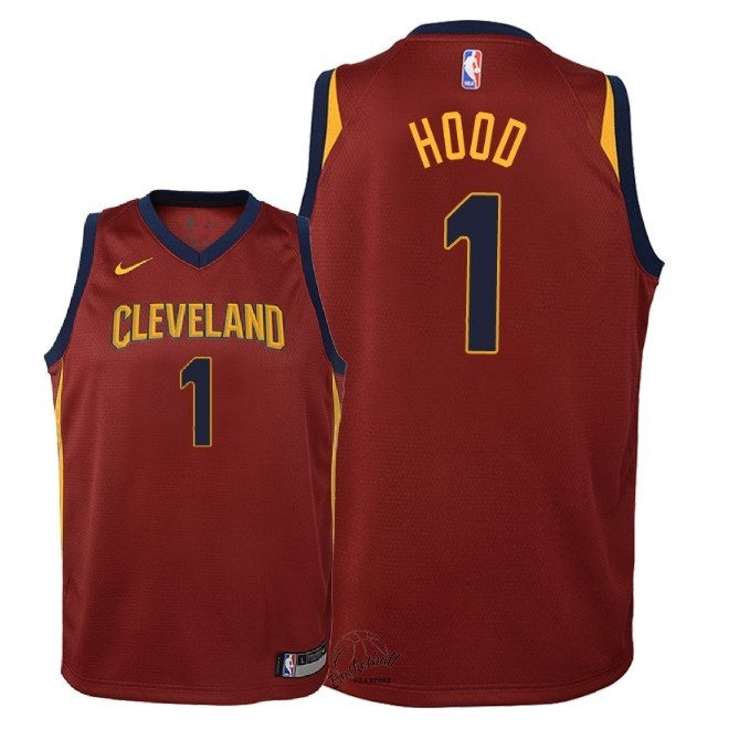 Choisir Maillot NBA Enfant Cleveland Cavaliers NO.1 Rodney Hood Rouge Icon 2018