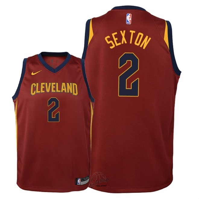 Choisir Maillot NBA Enfant Cleveland Cavaliers NO.2 Collin Sexton Rouge Icon 2018