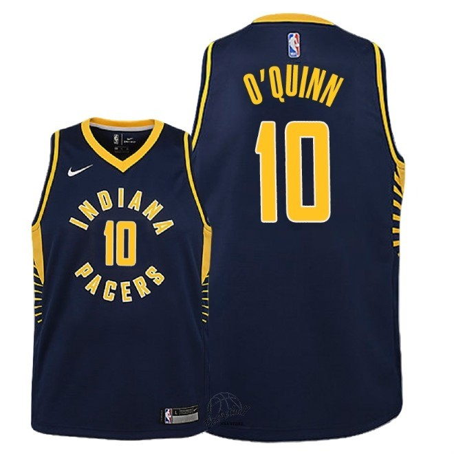 Choisir Maillot NBA Enfant Indiana Pacers NO.10 Kyle O'Quinn Marine Icon 2018-19