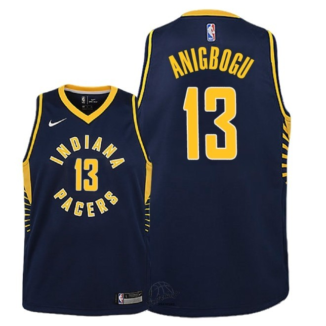 Choisir Maillot NBA Enfant Indiana Pacers NO.13 Ike Anigbogu Marine Icon 2018-19