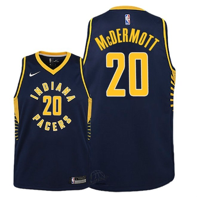 Choisir Maillot NBA Enfant Indiana Pacers NO.20 Doug McDermott Marine Icon 2018-19