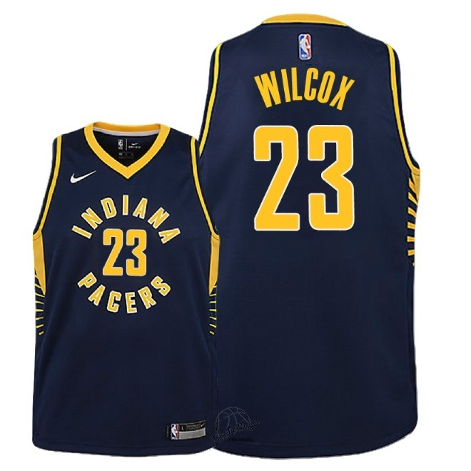 Choisir Maillot NBA Enfant Indiana Pacers NO.23 C.J. Wilcox Marine Icon 2018-19