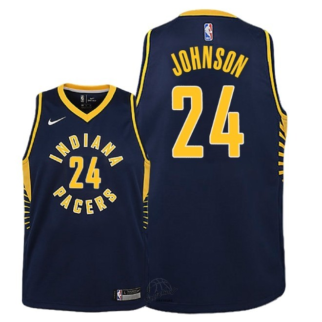 Choisir Maillot NBA Enfant Indiana Pacers NO.24 Alize Johnson Marine Icon 2018-19