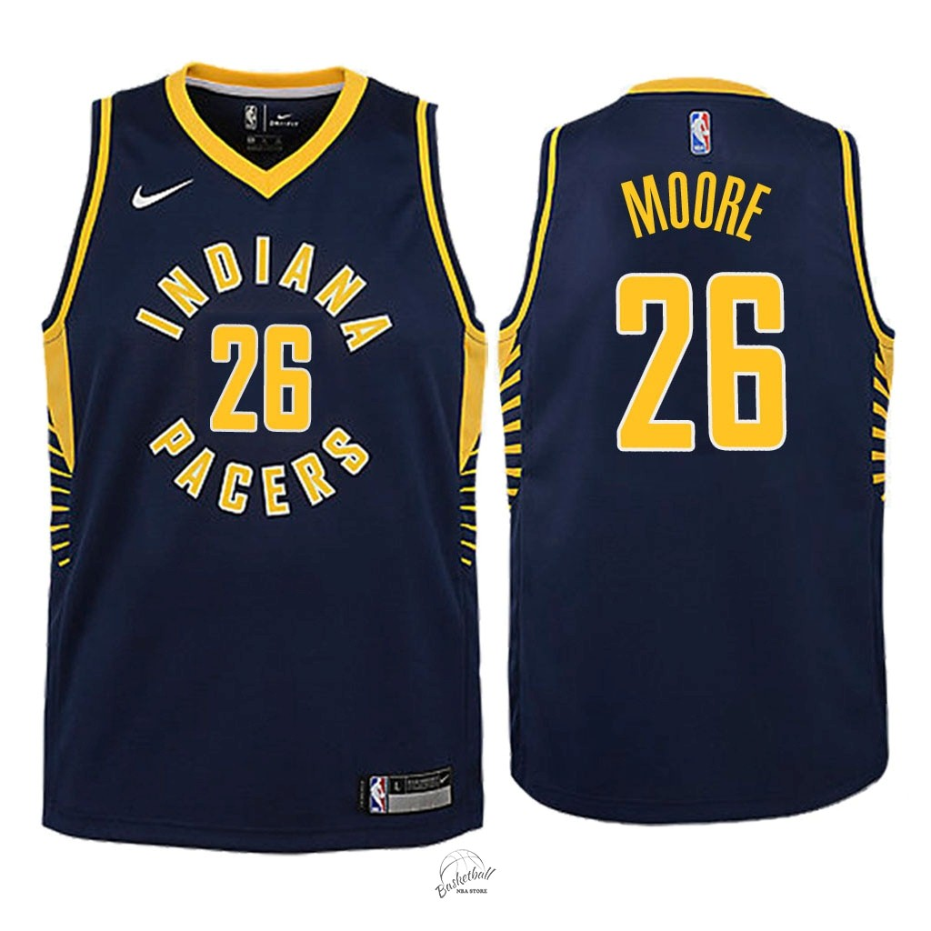 Choisir Maillot NBA Enfant Indiana Pacers NO.26 Ben Moore Marine Icon 2018