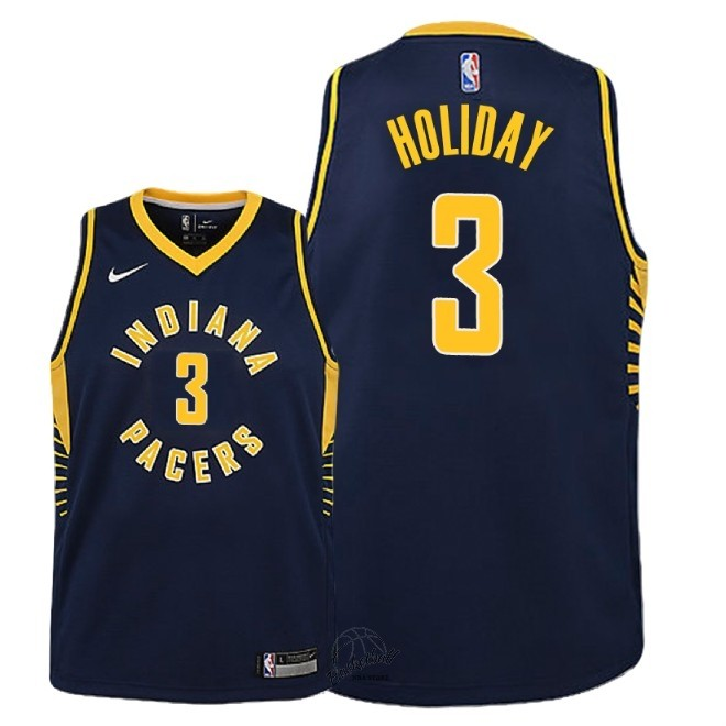 Choisir Maillot NBA Enfant Indiana Pacers NO.3 Aaron Holiday Marine Icon 2018-19