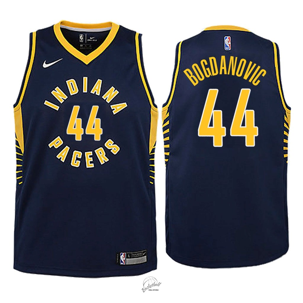 Choisir Maillot NBA Enfant Indiana Pacers NO.44 Bojan Bogdanovic Marine Icon 2018