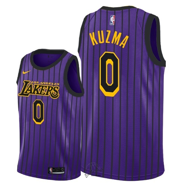 Choisir Maillot NBA Enfant Los Angeles Lakers NO.0 Kyle Kuzma Nike Pourpre Ville 2018-19