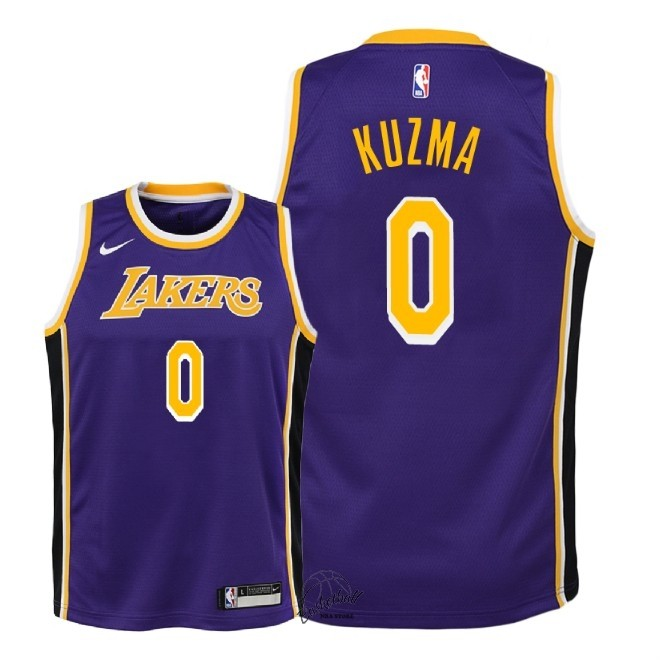 Choisir Maillot NBA Enfant Los Angeles Lakers NO.0 Kyle Kuzma Pourpre Statement 2018-19
