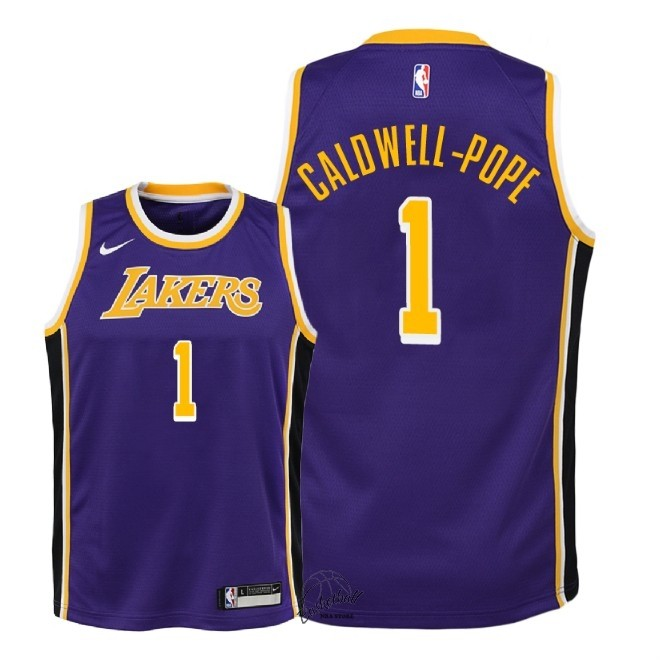 Choisir Maillot NBA Enfant Los Angeles Lakers NO.1 Kentavious Caldwell Pope Pourpre Statement 2018-19