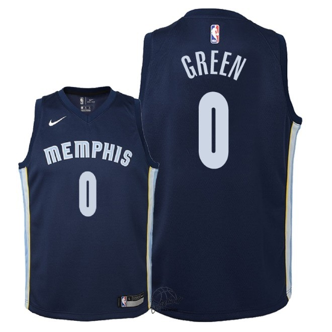 Choisir Maillot NBA Enfant Memphis Grizzlies NO.0 JaMychal Green Marine Icon 2018