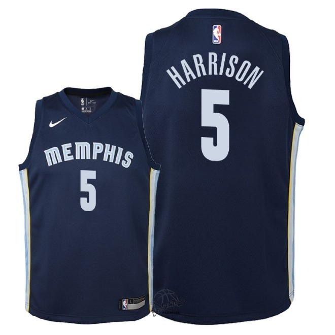 Choisir Maillot NBA Enfant Memphis Grizzlies NO.5 Andrew Harrison Marine Icon 2018
