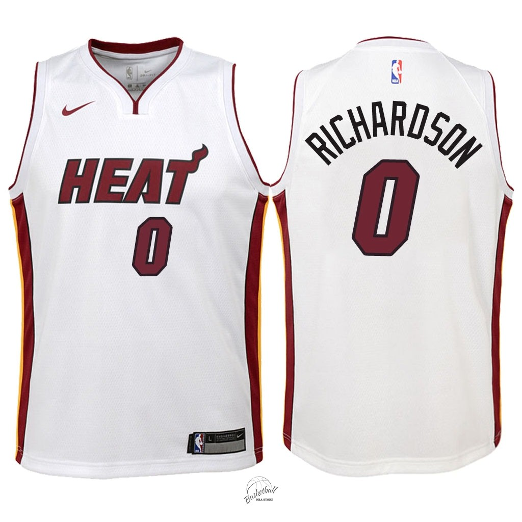 Choisir Maillot NBA Enfant Miami Heat NO.0 Josh Richardson Blanc Association 2018