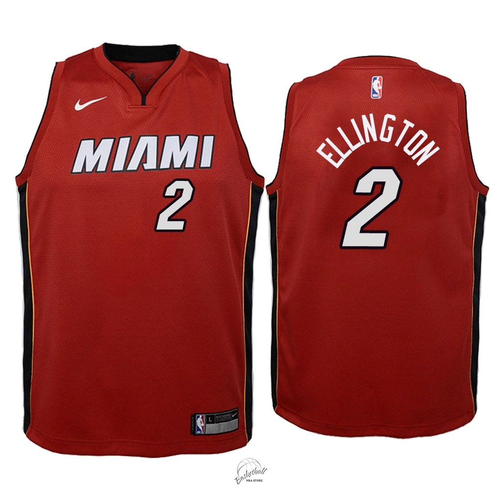 Choisir Maillot NBA Enfant Miami Heat NO.2 Wayne Ellington Rouge Statement 2018