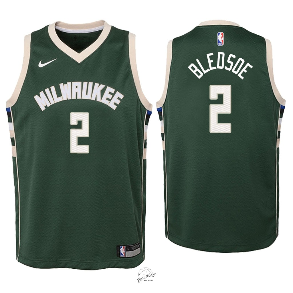 Choisir Maillot NBA Enfant Milwaukee Bucks NO.6 Eric Bledsoe Vert Icon 2018