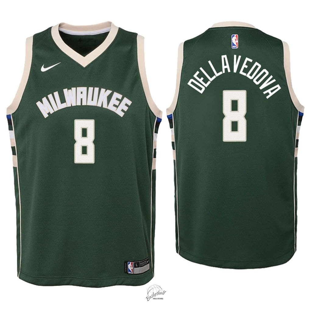 Choisir Maillot NBA Enfant Milwaukee Bucks NO.8 Matthew Dellavedova Vert Icon 2018