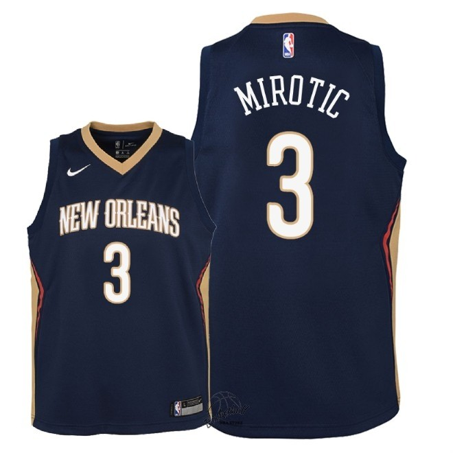 Choisir Maillot NBA Enfant New Orleans Pelicans NO.3 Nikola Mirotic Marine Icon 2018