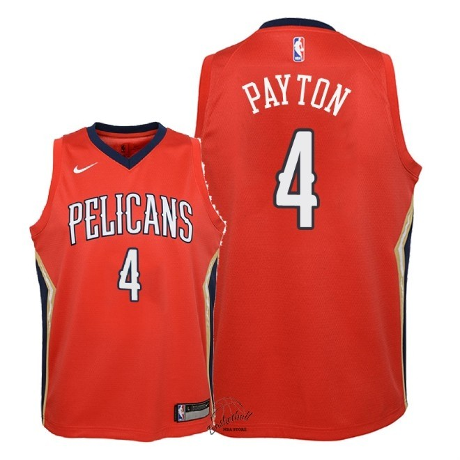 Choisir Maillot NBA Enfant New Orleans Pelicans NO.4 Elfrid Payton Rouge Statement 2018