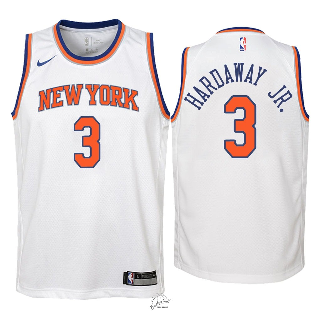 Choisir Maillot NBA Enfant New York Knicks NO.3 Tim Hardaway Jr Blanc Association 2018