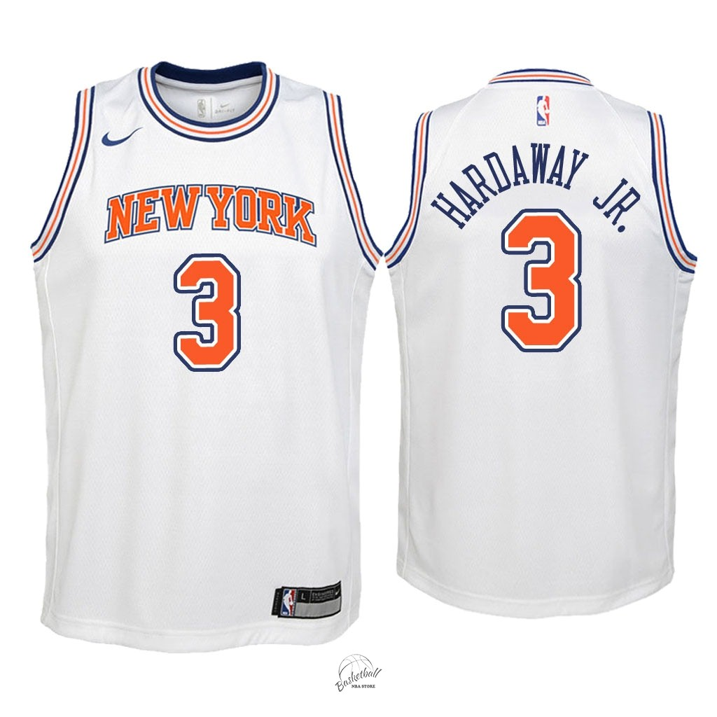 Choisir Maillot NBA Enfant New York Knicks NO.3 Tim Hardaway Jr Blanc Statement 2018