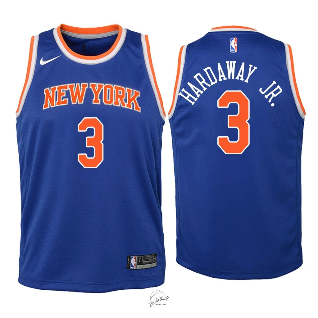 Choisir Maillot NBA Enfant New York Knicks NO.3 Tim Hardaway Jr Bleu Icon 2018
