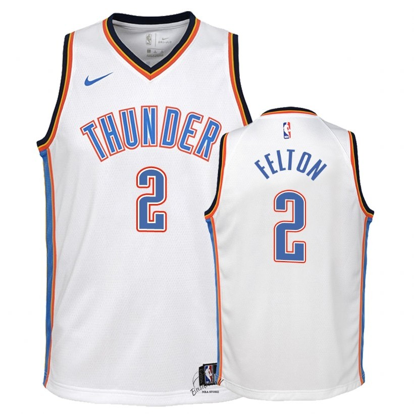 Choisir Maillot NBA Enfant Oklahoma City Thunder NO.2 Raymond Felton Blanc Association 2018