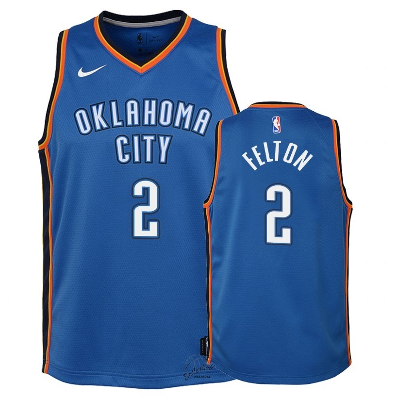 Choisir Maillot NBA Enfant Oklahoma City Thunder NO.2 Raymond Felton Bleu Icon 2018