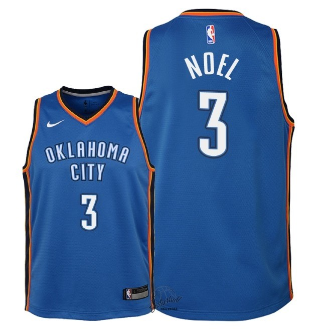 Choisir Maillot NBA Enfant Oklahoma City Thunder NO.3 Nerlens Noel Bleu Icon 2018