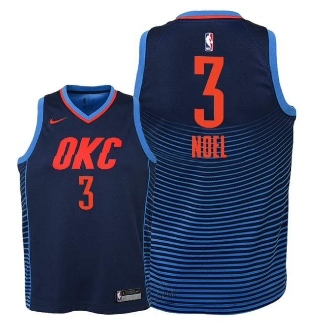 Choisir Maillot NBA Enfant Oklahoma City Thunder NO.3 Nerlens Noel Marine Statement 2018