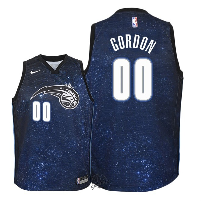 Choisir Maillot NBA Enfant Orlando Magic NO.0 Aaron Gordon Nike Marine Ville 2018