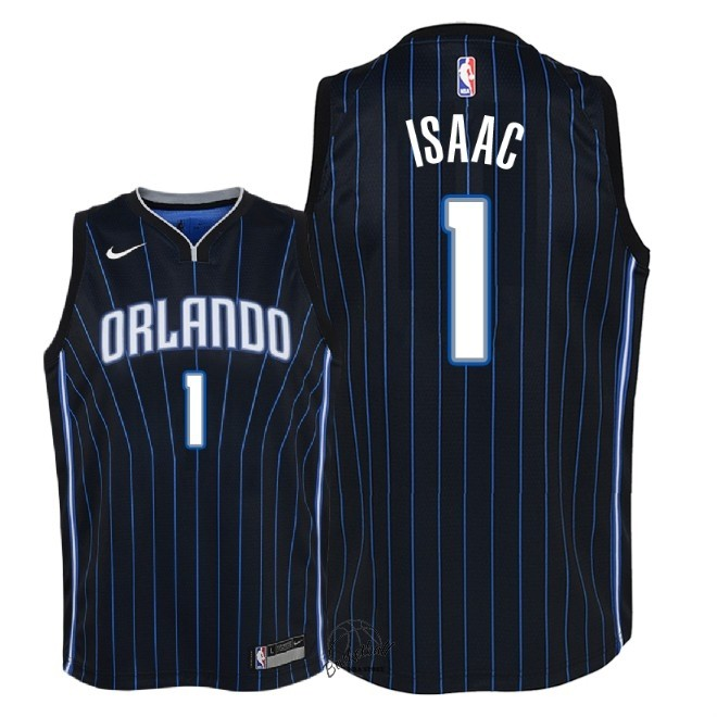 Choisir Maillot NBA Enfant Orlando Magic NO.1 Jonathan Isaac Noir Statement 2018
