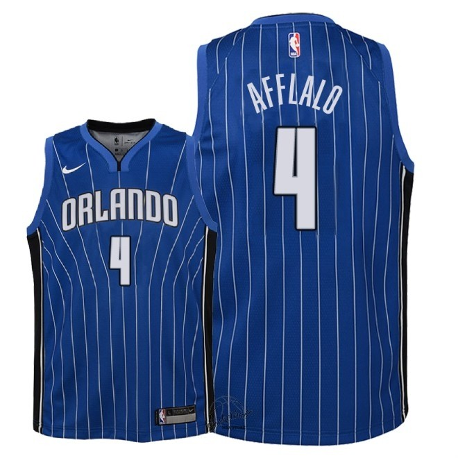 Choisir Maillot NBA Enfant Orlando Magic NO.4 Arron Afflalo Bleu Icon 2018