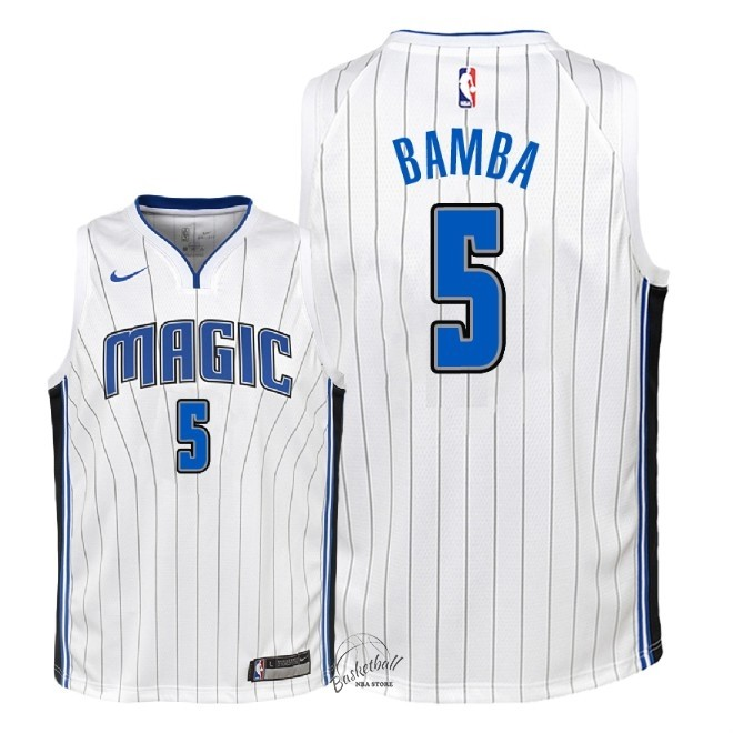 Choisir Maillot NBA Enfant Orlando Magic NO.5 Mohamed Bamba Blanc Association 2018