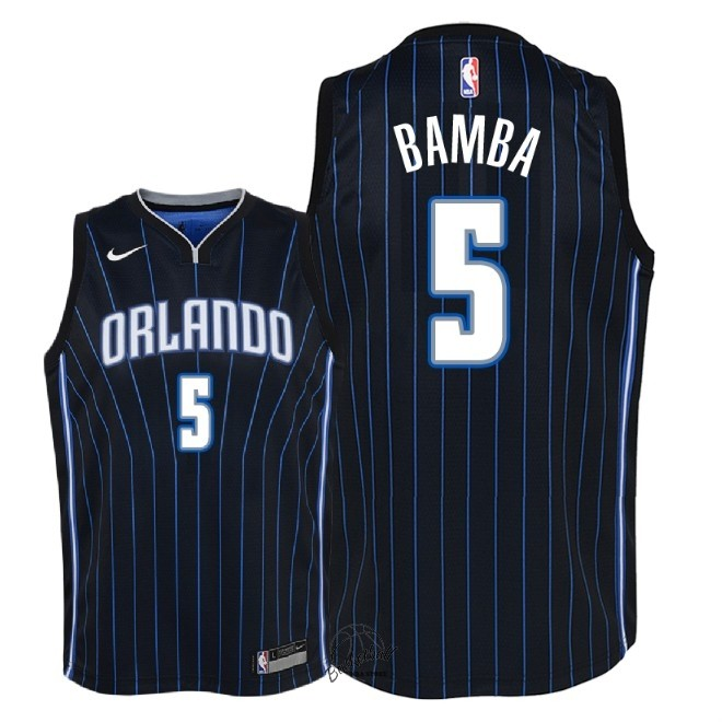 Choisir Maillot NBA Enfant Orlando Magic NO.5 Mohamed Bamba Noir Statement 2018