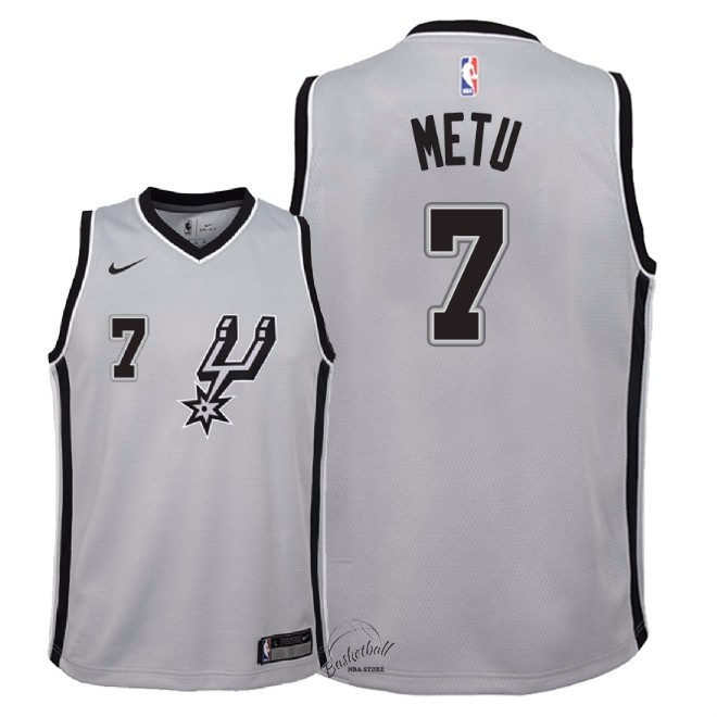 Choisir Maillot NBA Enfant San Antonio Spurs NO.7 Chimezie Metu Gris Statement 2018