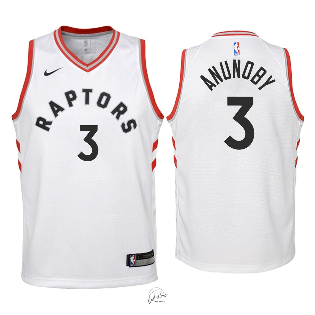 Choisir Maillot NBA Enfant Toronto Raptors NO.3 OG Anunoby Blanc Association 2018