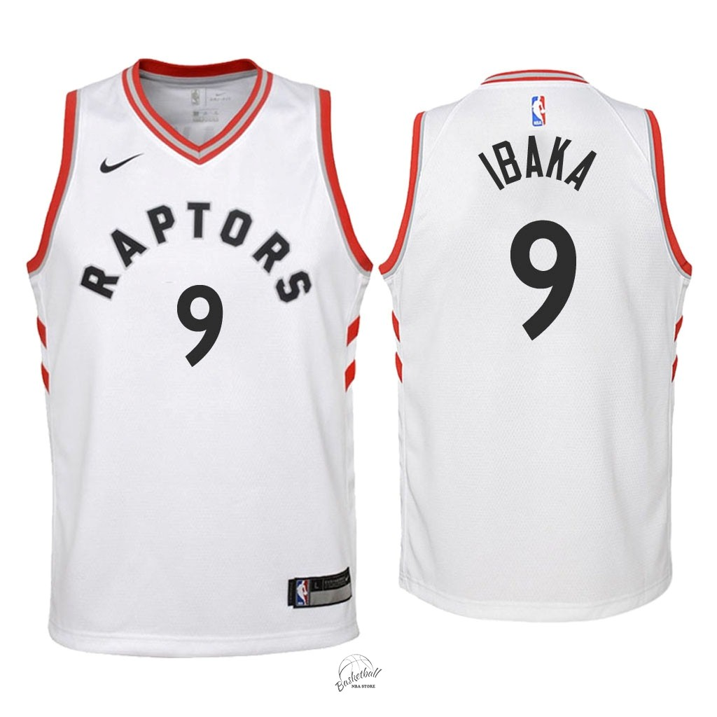 Choisir Maillot NBA Enfant Toronto Raptors NO.9 Serge Ibaka Blanc Association 2018