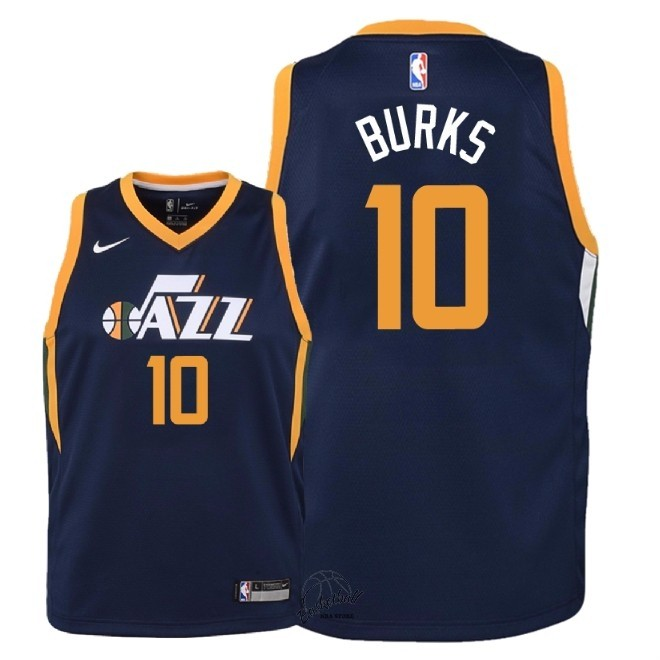 Choisir Maillot NBA Enfant Utah Jazz NO.10 Alec Burks Marine Icon 2018