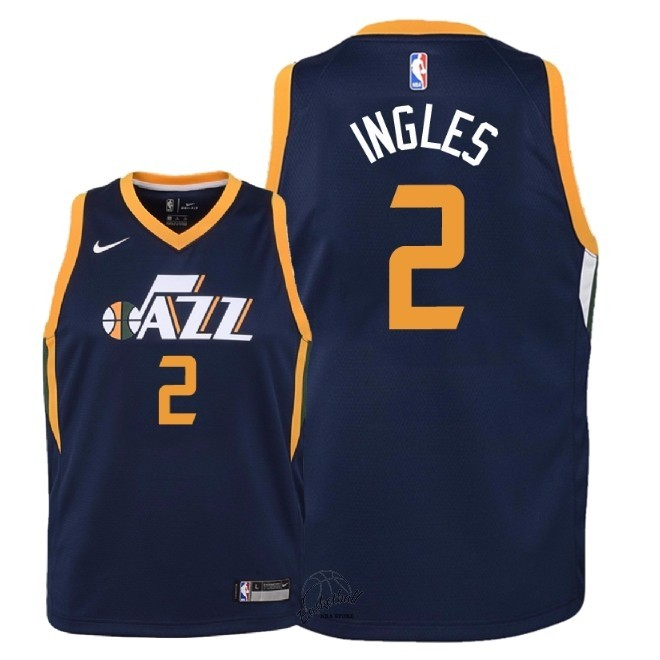 Choisir Maillot NBA Enfant Utah Jazz NO.2 Joe Ingles Marine Icon 2018