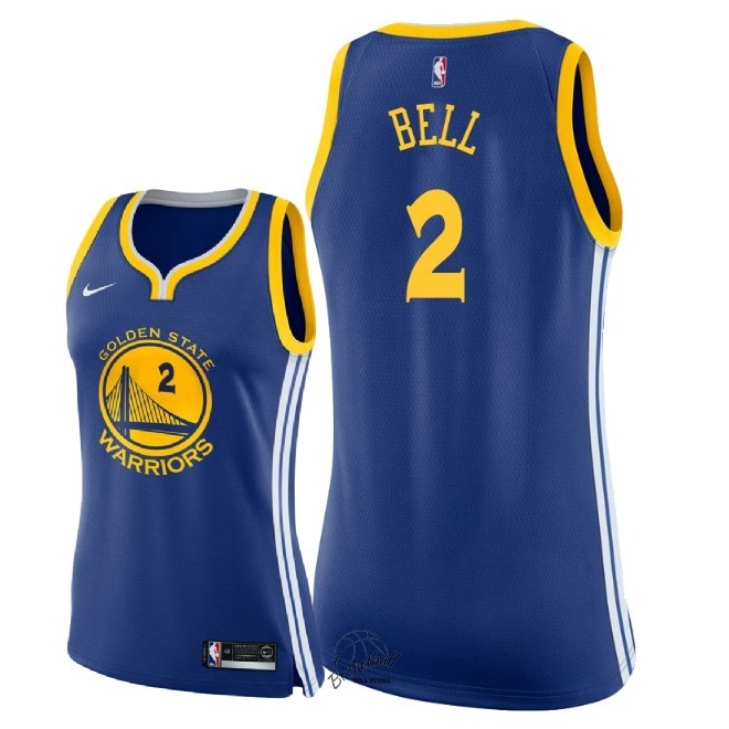 Choisir Maillot NBA Femme Golden State Warriors NO.2 Jordan Bell Bleu Icon 2018