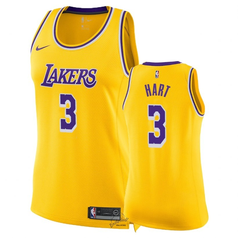 Choisir Maillot NBA Femme Los Angeles Lakers NO.3 Josh Hart Jaune Icon 2018-19