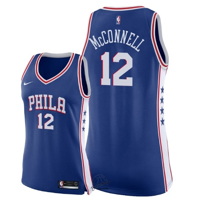 Choisir Maillot NBA Femme Philadelphia Sixers NO.12 T.J. McConnell Bleu Icon 2018