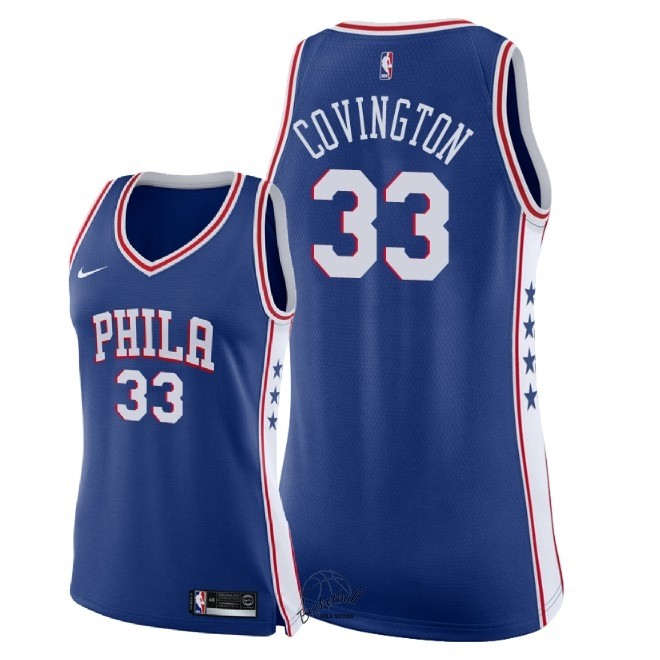 Choisir Maillot NBA Femme Philadelphia Sixers NO.33 Robert Covington Bleu Icon 2018