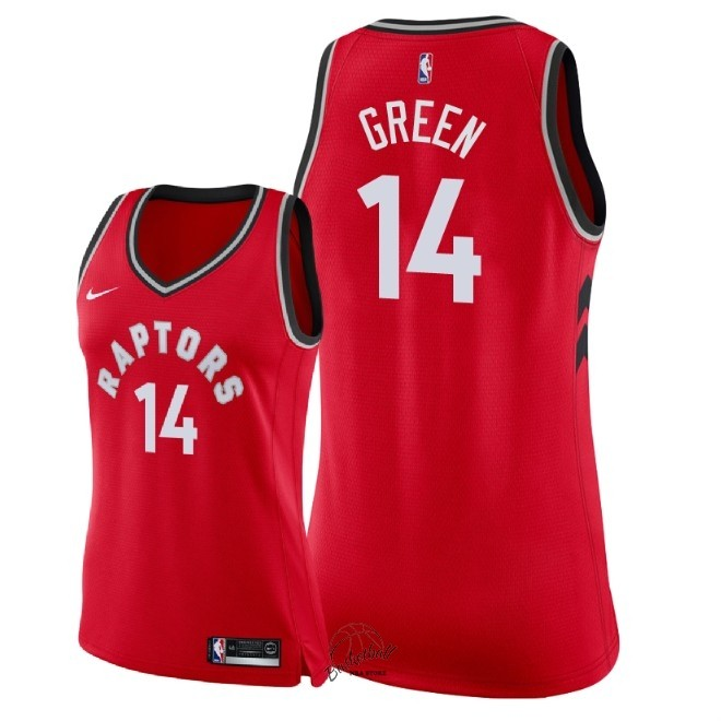 Choisir Maillot NBA Femme Toronto Raptors NO.14 Danny Green Rouge Icon 2018