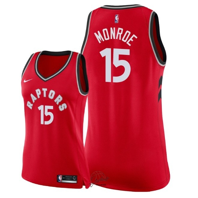 Choisir Maillot NBA Femme Toronto Raptors NO.15 Greg Monroe Rouge Icon 2018