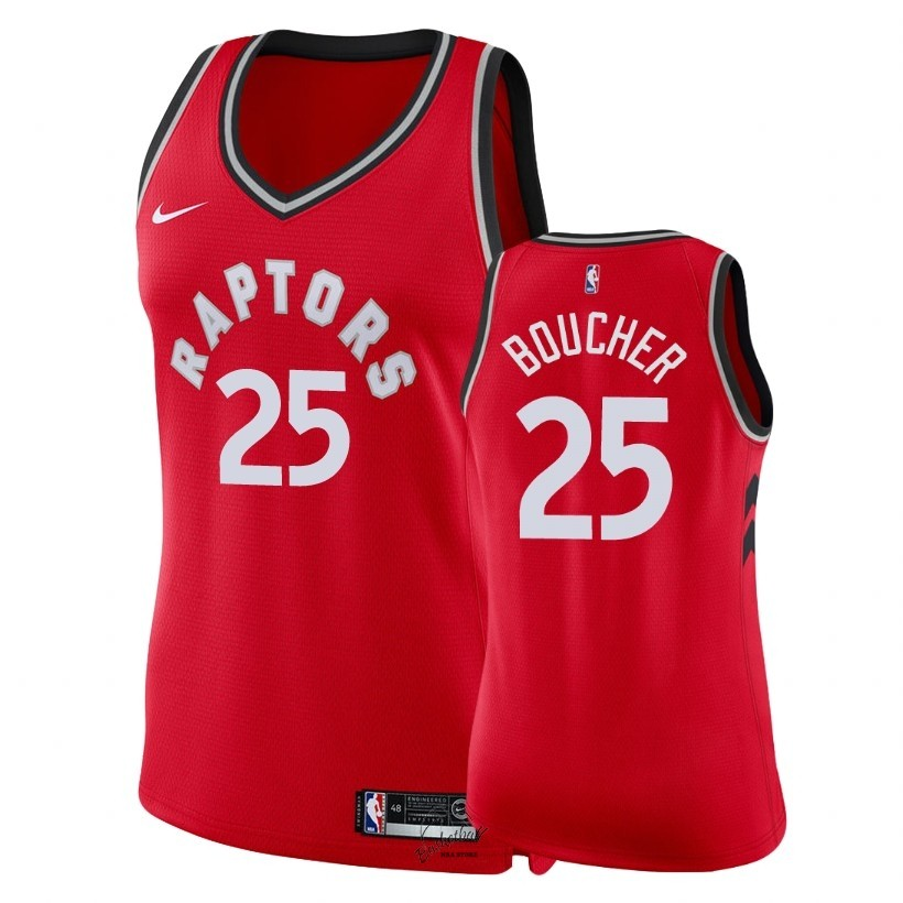 Choisir Maillot NBA Femme Toronto Raptors NO.25 Chris Boucher Rouge Icon 2018