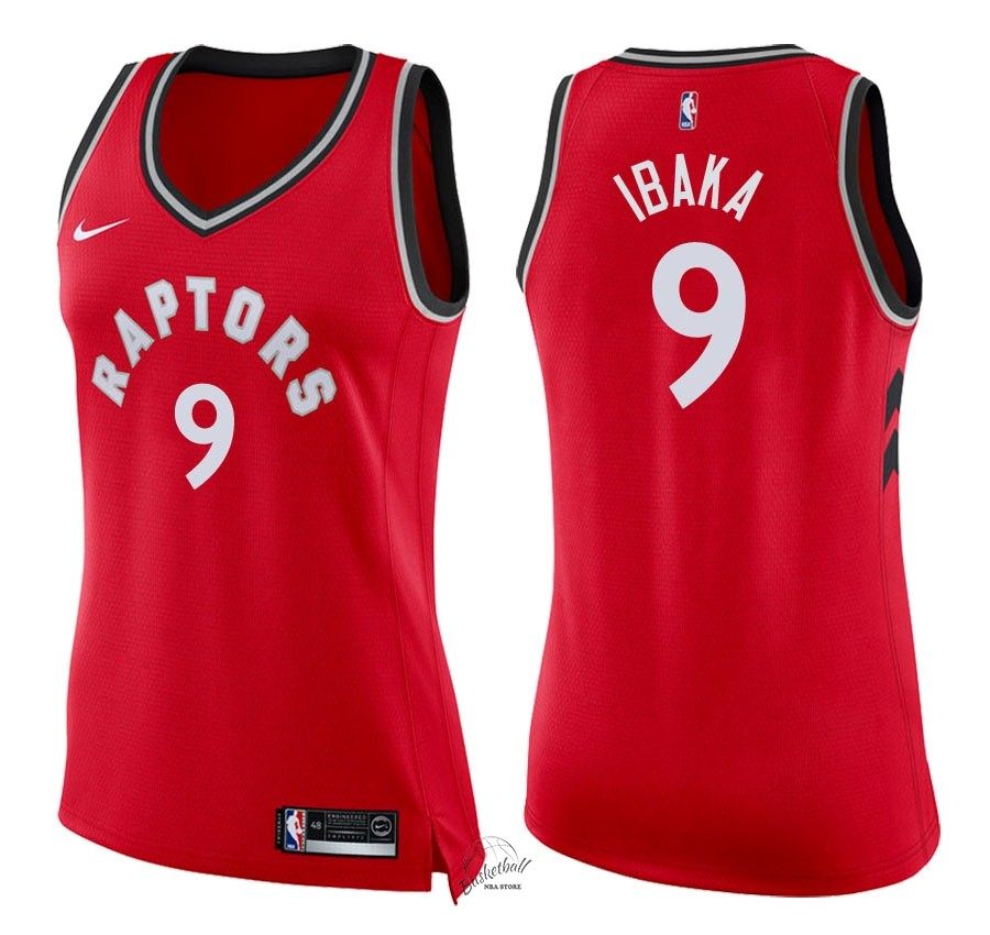 Choisir Maillot NBA Femme Toronto Raptors NO.9 Serge Ibaka Rouge Icon 2018