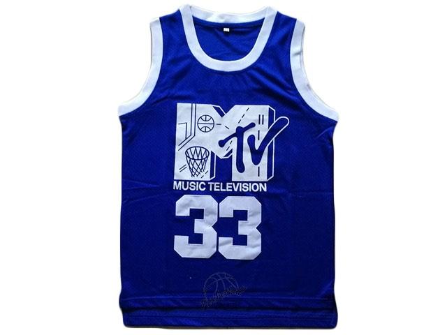 d486bf1f51924 Choisir Maillot NBA Film Basket-Ball Smith NO.33 Bleu Pas Cher En ...