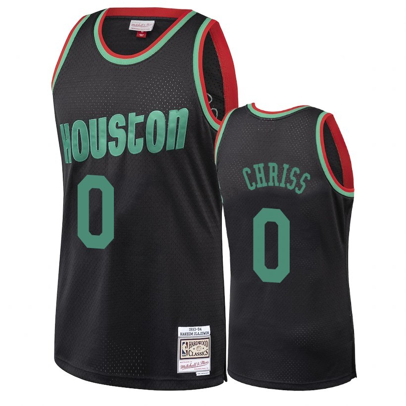 Choisir Maillot NBA Houston Rockets 2018 Noël NO.0 Marquese Chriss Retro Noir